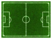Football field. 3d Football/Soccer grassy field Stock Photos