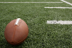 Football on the Field Royalty Free Stock Image