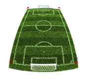 Football field. 3d illustration of the football field isolated on white background Royalty Free Stock Photos