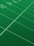 Football field.. Football field showing zone lines. Portrait orientation Royalty Free Stock Photos