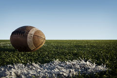 Football on Field Royalty Free Stock Images