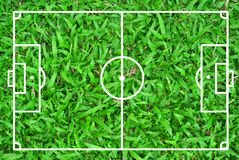 Football field Royalty Free Stock Photo
