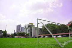 Football field. On Bangkok , Thailand Royalty Free Stock Photography