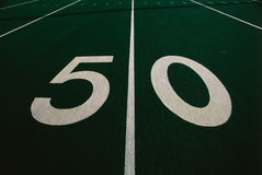 Football field Royalty Free Stock Images