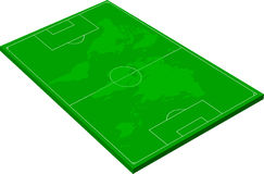 Football field. Layout of a football field on a white background Stock Photo