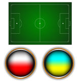 Football field Stock Images