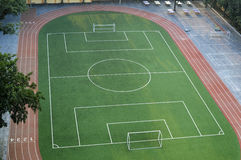 Football Field. A Football Field of School in Beijing China Royalty Free Stock Images