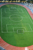 Football Field. A Football Field of School in Beijing China Stock Images