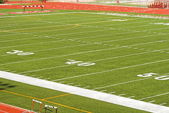 Football Field. Viewed from high angle Stock Photo
