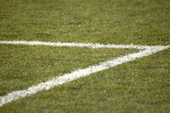 Football field. Soccer field elements and markings Stock Images