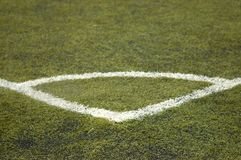 Football field. Elements and markings Royalty Free Stock Photo
