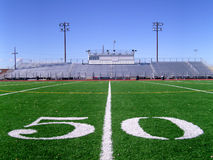 Football Field 3. 50 Yard Line on Football Field stock images