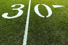 Football Field with 30 Yard stock photos