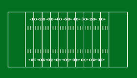 Football field. Lay-out of an American football field Stock Photo