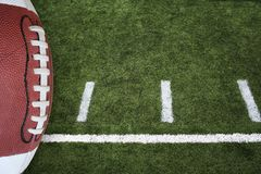 Football and field Royalty Free Stock Photo