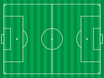 Football field. Vector illustration of a football or soccer field Stock Photo