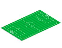 Football field. Angled view of the football field Royalty Free Stock Image