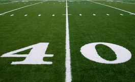 Football Field 40 Yard Line Stock Images