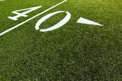 Football Field 40 Yard Line Stock Photography
