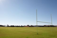 Football Field. Football practice field Stock Photography