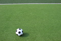 Football in the field Royalty Free Stock Photography