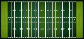 Football field. View of a complete football field - above view Royalty Free Stock Photo