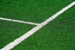 Football field. Lines on football field royalty free stock photography