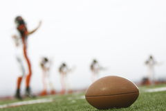 Football on field Stock Photography