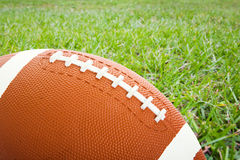 Football on the Field Royalty Free Stock Photos