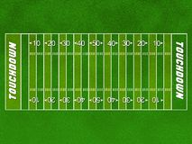Football field. A green field of american football Royalty Free Stock Photo