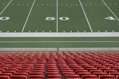 Football field. View of the Football field Stock Images