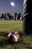 Football at the field royalty free stock photo