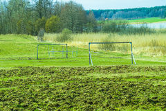 Football field. A alternative football field out in nature Stock Photography