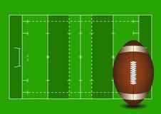 Football field. American football ball Stock Images