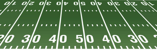 Football field. American football field layout view from a side vector illustration