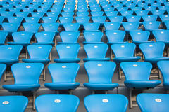 Football field athletic field the audience seat Royalty Free Stock Image