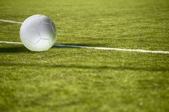 Football Field with Ball Royalty Free Stock Images