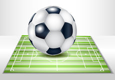 Football field with ball. Stock Images