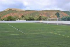 Football field in beautiful landscape. Stock Photography