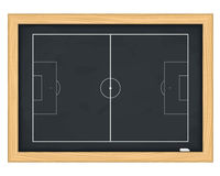 Football field on blackboard Royalty Free Stock Images