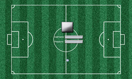 Football field blank Protection system Royalty Free Stock Photo