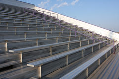 Football Field Bleachers Stock Photo