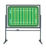Football Field Board. Illustration of a football field board Royalty Free Stock Photo