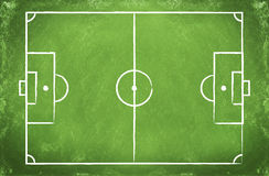 Football field  on a board Stock Image