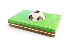 Football field cake. 3d  on a white background Stock Image