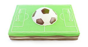 Football field cake 3d Royalty Free Stock Images