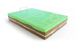 Football field cake 3d Stock Image