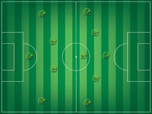 Football field and check mark Stock Images