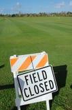 Football Field Closed Royalty Free Stock Photo