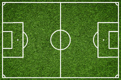 Football field, Closeup image of natural green grass soccer field Stock Photography